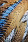 Curved Facade of building, Windows, pattern Royalty Free Stock Photography