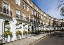 Curved Facade of London Property stock image