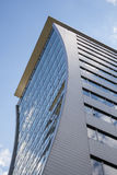 Curved facade. Modern office building with curved facade royalty free stock images