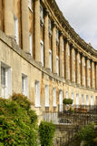 Curved facade at the Royal crescent, Bath Royalty Free Stock Photos