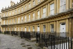 Curved facades at the Circus crescent, Bath Stock Photo