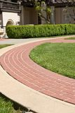 Curved footpath Royalty Free Stock Photos