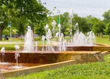 Curved fountain royalty free stock images