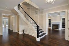 curved foyer staircase Στοκ Φωτογραφία