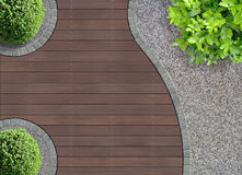 Curved garden detail Royalty Free Stock Image