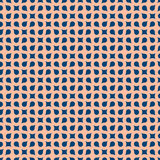 Curved geometric seamless pattern. Vector background Stock Image