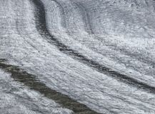 Curved Glacier And Morainesr Royalty Free Stock Photos