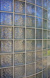 Curved glass brick wall Stock Image