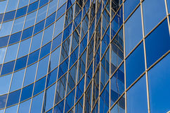 Curved glass facade of modern building Royalty Free Stock Images