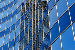Curved glass facade of modern building Royalty Free Stock Photography