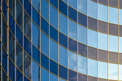 Curved glass facade of modern building Stock Photography