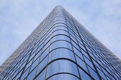 Curved Glass on office building Royalty Free Stock Photography