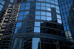 Curved Glass Skyscraper Reflections Royalty Free Stock Image