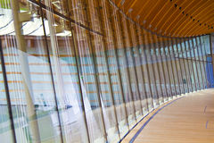 Curved Glass Wall pattern Stock Photography