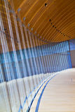 Curved Glass Wall pattern Royalty Free Stock Images
