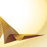 Curved gold strips Royalty Free Stock Image