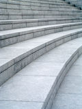 Curved granite steps. Full-frame background texture of grey granite curved stone steps. The Scoop, London, UK royalty free stock images