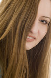 Curved hairs royalty free stock photography