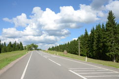 Curved highway mountain Royalty Free Stock Images