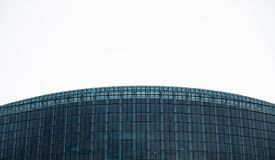 Curved horizons - The European Parliament. Strasbourg, France royalty free stock image
