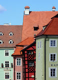 Curved houses, Cheb (Czech Republic) Royalty Free Stock Photo