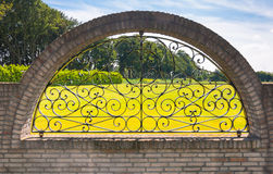 Curved ironwork fence Royalty Free Stock Photo