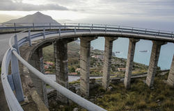 Curved italian bridge road Royalty Free Stock Photos