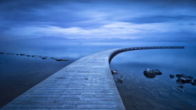 Curved Jetty - Long Exposure Stock Photography