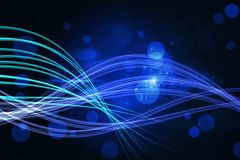 Curved laser light design in blue Royalty Free Stock Photo