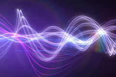 Curved laser light design in purple Royalty Free Stock Image
