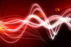 Curved laser light design in red Stock Photography