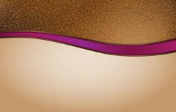 Curved leather header or footer royalty free illustration
