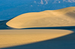 Curved Light in Sand Dunes Royalty Free Stock Photos