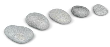 Curved Line of Stones stock photo. Image of rocks, curved - 118159656