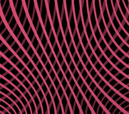 Curved lines. Abstract crossing curved lines on black background Royalty Free Stock Photos