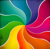 Curved lines abstract rainbow background Royalty Free Stock Image