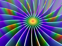 The curved lines of different colors �3 Royalty Free Stock Image