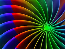 "The curved lines of different colors â""–1. The curved lines of different colors. Abstraction. №1 stock illustration"