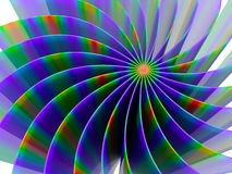 "The curved lines of different colors â""–2. The curved lines of different colors. Abstraction. №2 vector illustration"