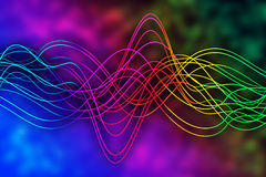 Curved lines over spectral background Stock Photos