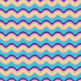 Curved Lines Pattern Seamless Vector Pattern. Wavy Stripes Texture royalty free illustration