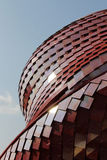 Curved lines. Pavillion red in Expo Milan Stock Images