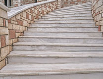 Curved marble stairs Royalty Free Stock Image