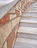 Curved marble stairs Royalty Free Stock Photos
