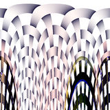 Curved mesh abstract background. With lines in pink, gray, white and blue colors. Abstract background Stock Illustration