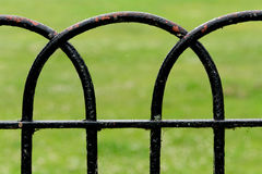 Curved metal fence frame Royalty Free Stock Photo