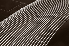 Curved metal surface Royalty Free Stock Image