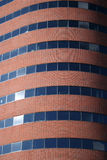 Curved modern brick building Royalty Free Stock Photo
