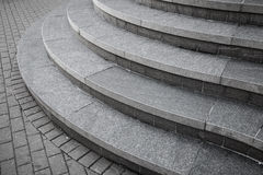 Curved modern gray stone stairs Stock Photography