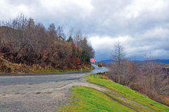 Curved mountain road Royalty Free Stock Photography